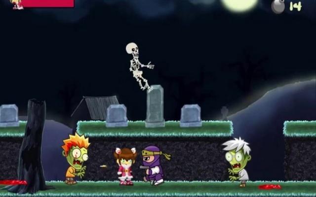 Ninja fight zombies Games