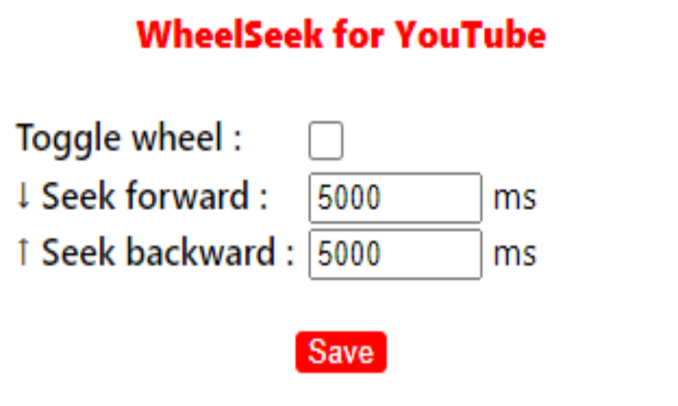 WheelSeek for YouTube