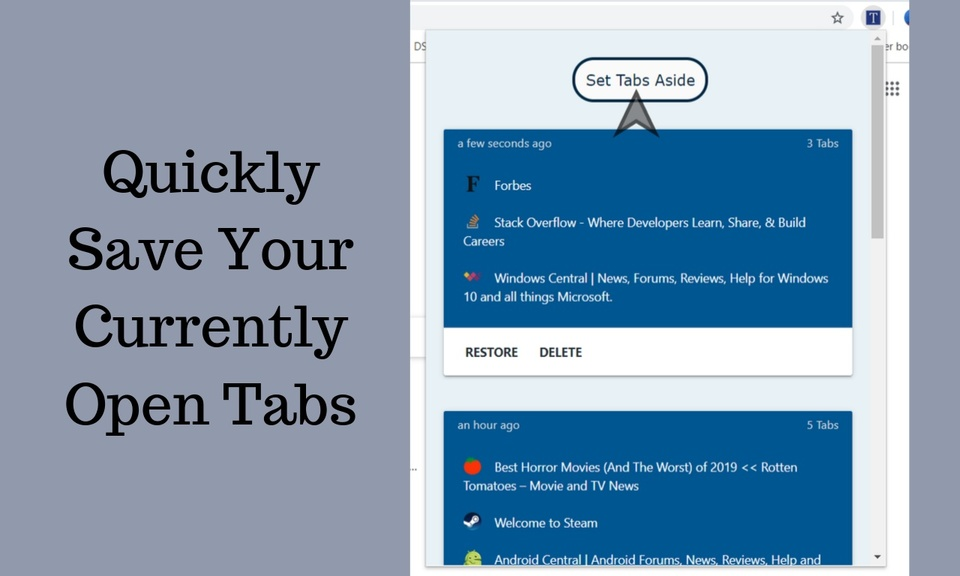 Save Chrome Tabs For Later
