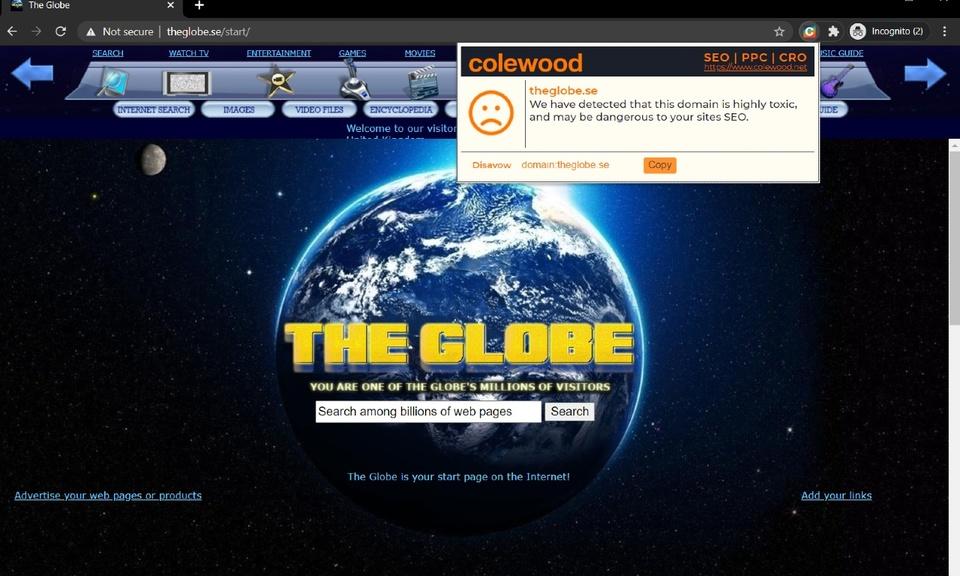 Colewood Disavow Helper