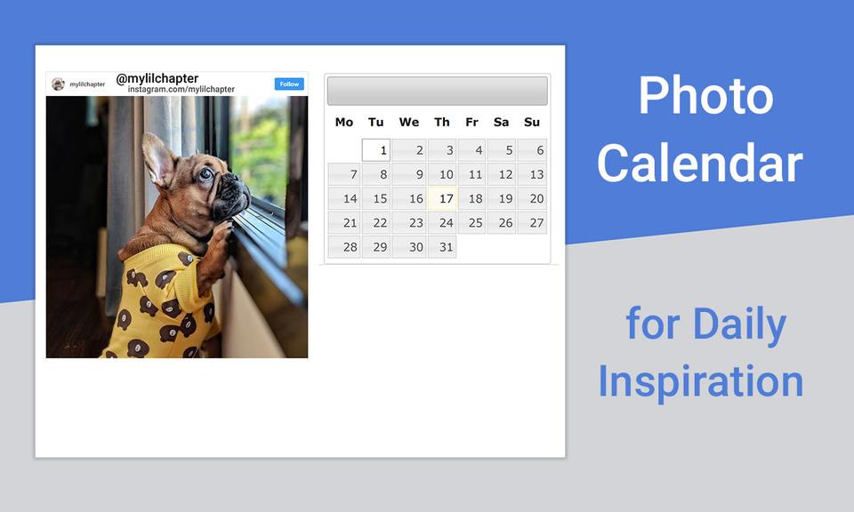 每日灵感照片日历