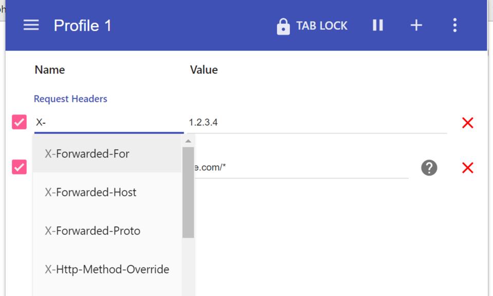 ModHeader-Chrome HTTP 请求头添加插件