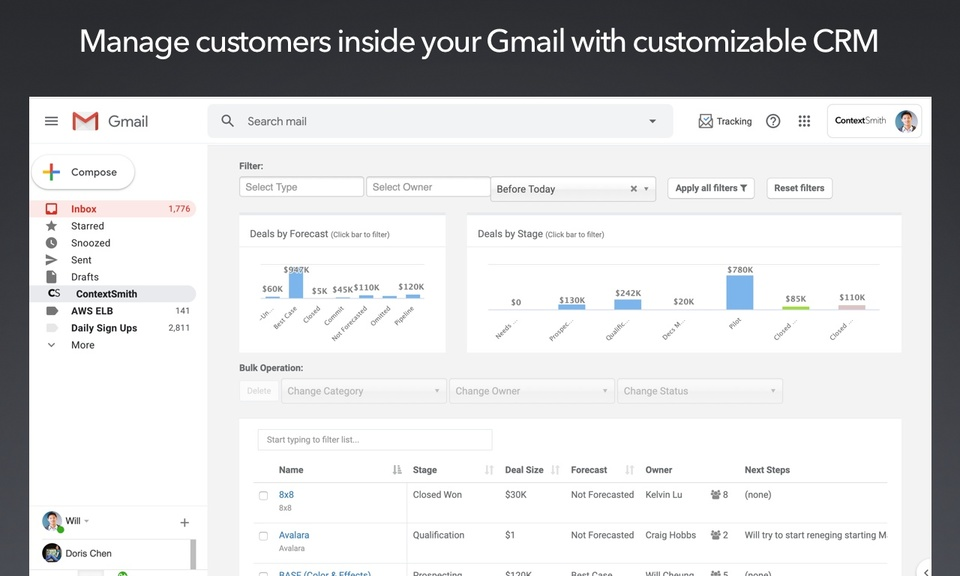 ContextSmith: Email tracker and CRM