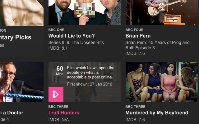 IMDB™ ratings for BBC iPlayer™
