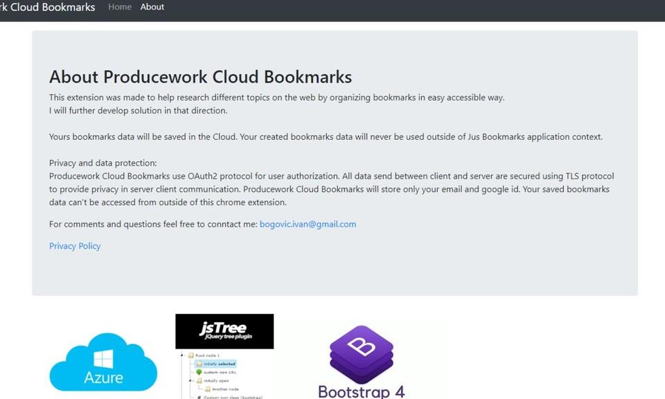 Producework Cloud Bookmarks