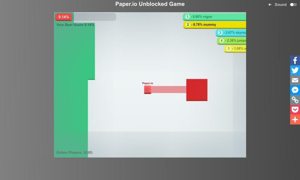 Paper.io Unblocked Game