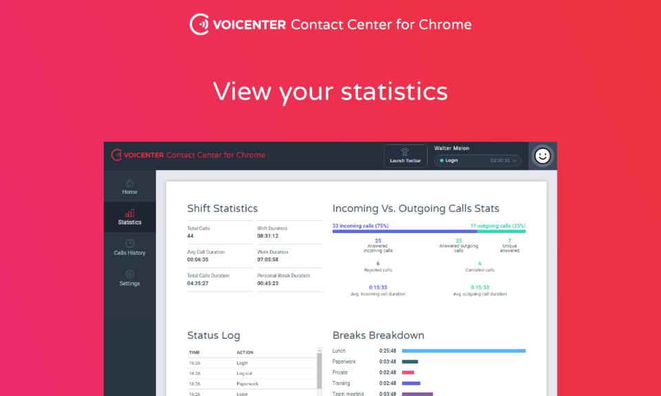 Voicenter Contact Center Extension - Voicenter商务沟通插件