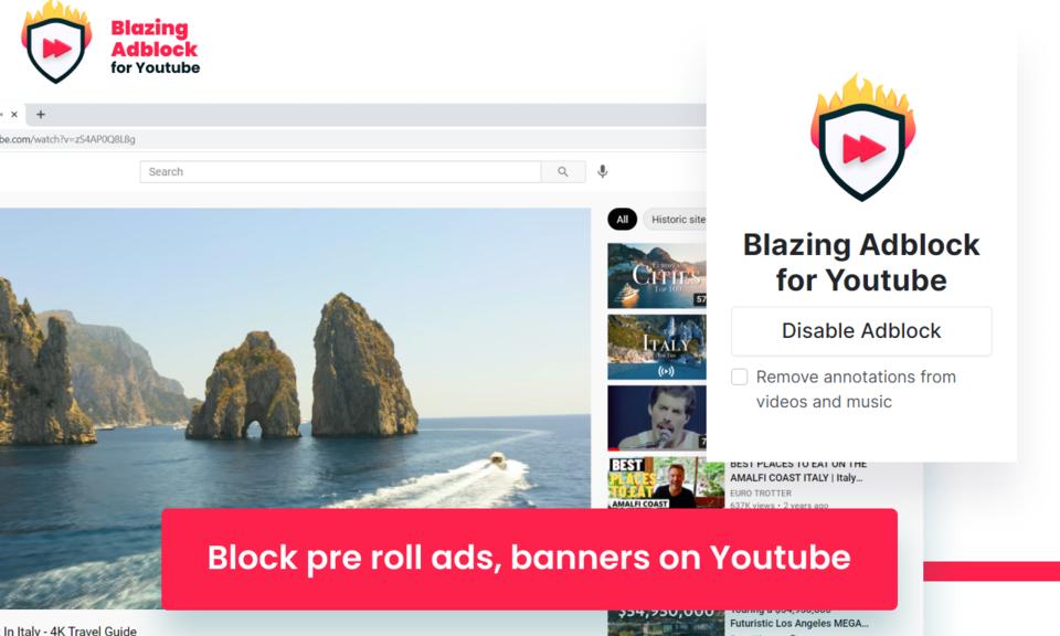 Blazing Adblock for Youtube™