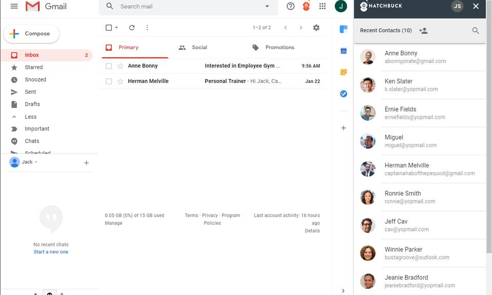Hatchbuck Gmail Integration