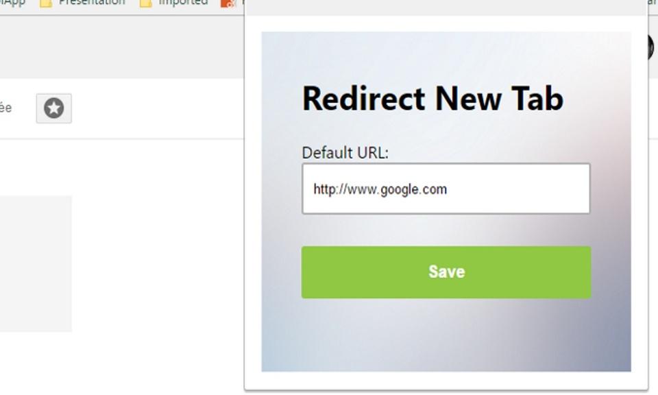 Redirect New Tab