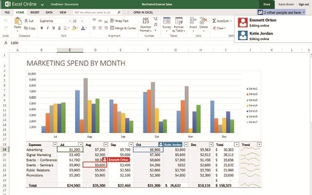 Excel Online-在线创建和编辑Excel电子表格