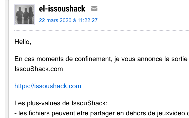 Issoushack Extension