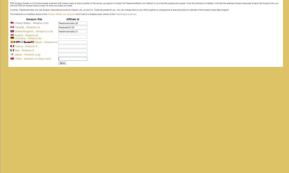 FDR Amazon Donator