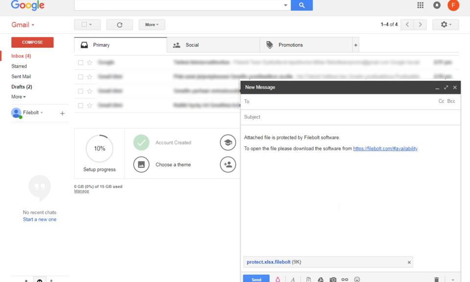 Filebolt Gmail Encryption