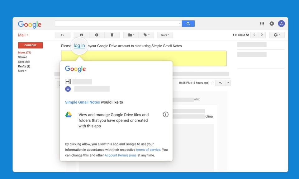Simple Gmail Notes