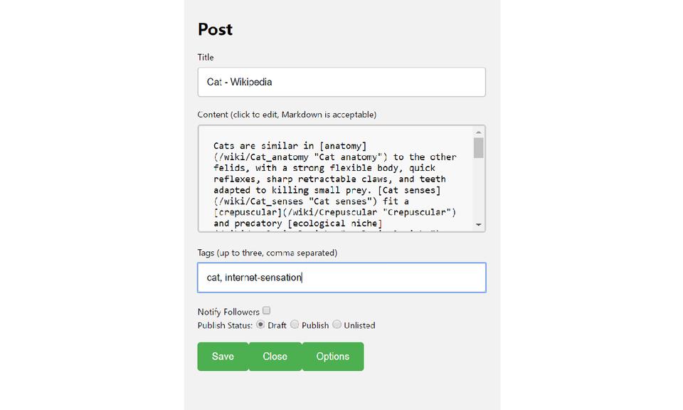 Medium Blog Chrome Extension