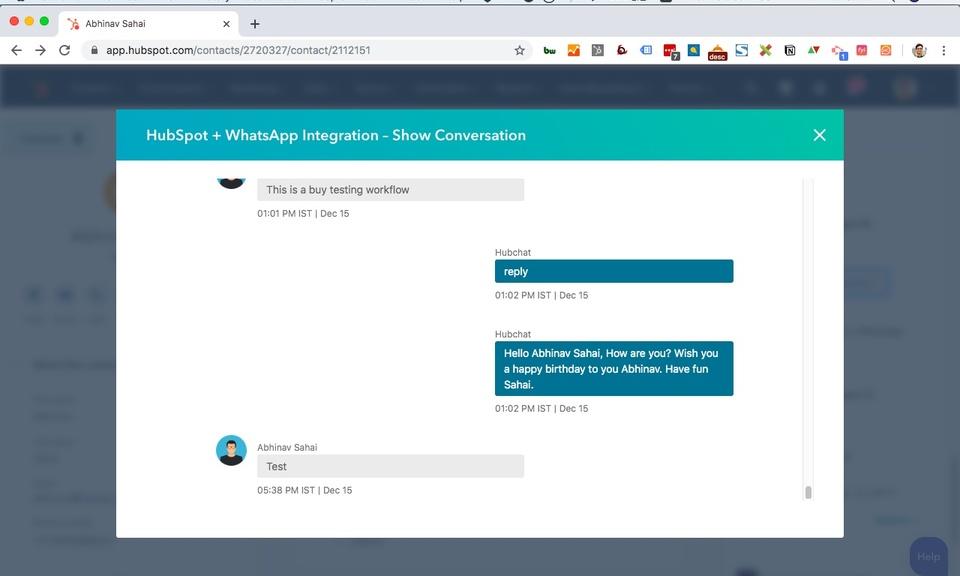 HubChat - Hubspot WhatsApp Integration