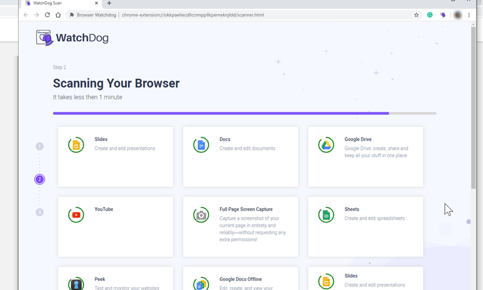 Browser WatchDog for Chrome