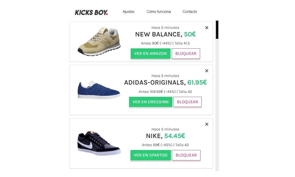 KicksBoy - Buscador de zapatillas baratas