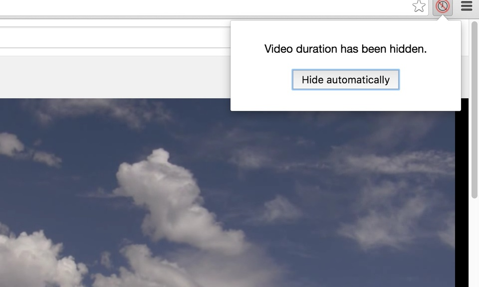 Hide video duration