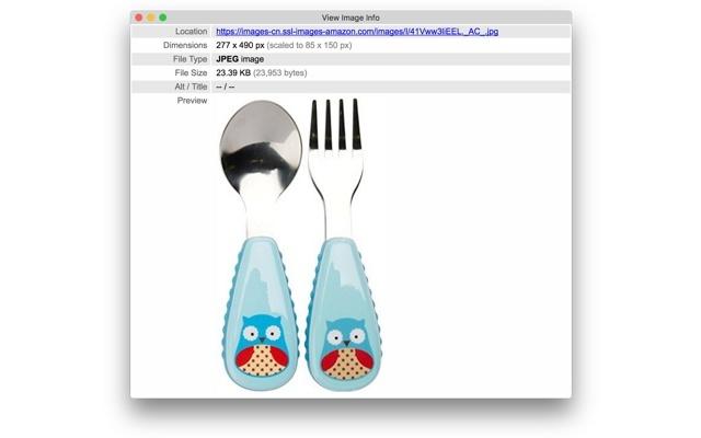 View Image Info (properties)