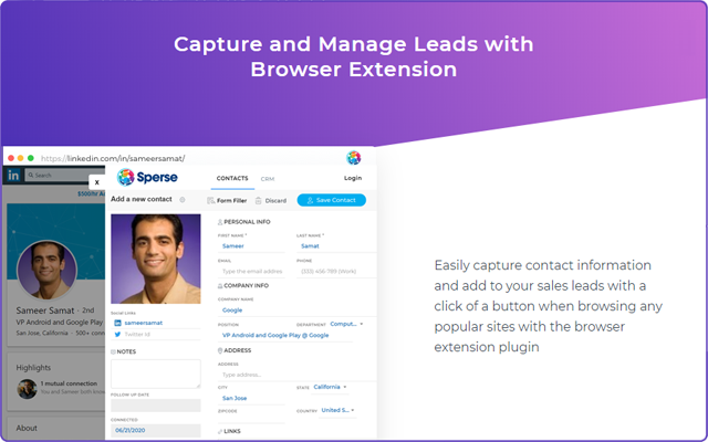 Sperse CRM Connector for Chrome