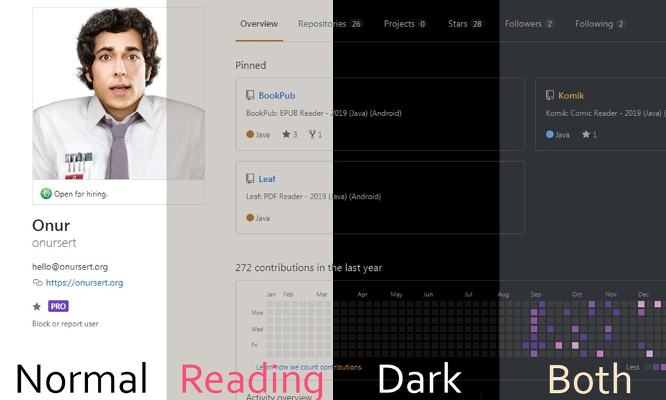 ReaDark - Reading & Dark Mode