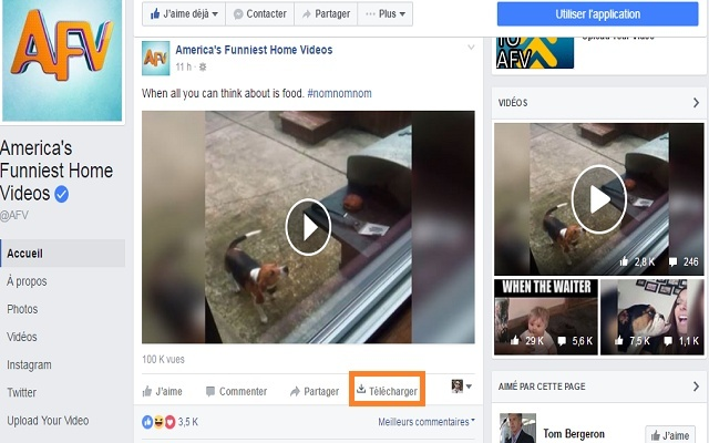 Videos Downloader - 一键下载Facebook视频插件