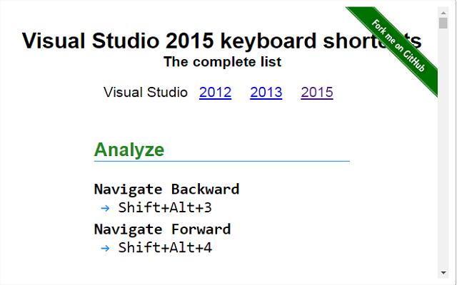 VisualStudio Shortcode