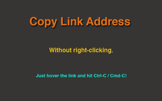 Copy Link Address