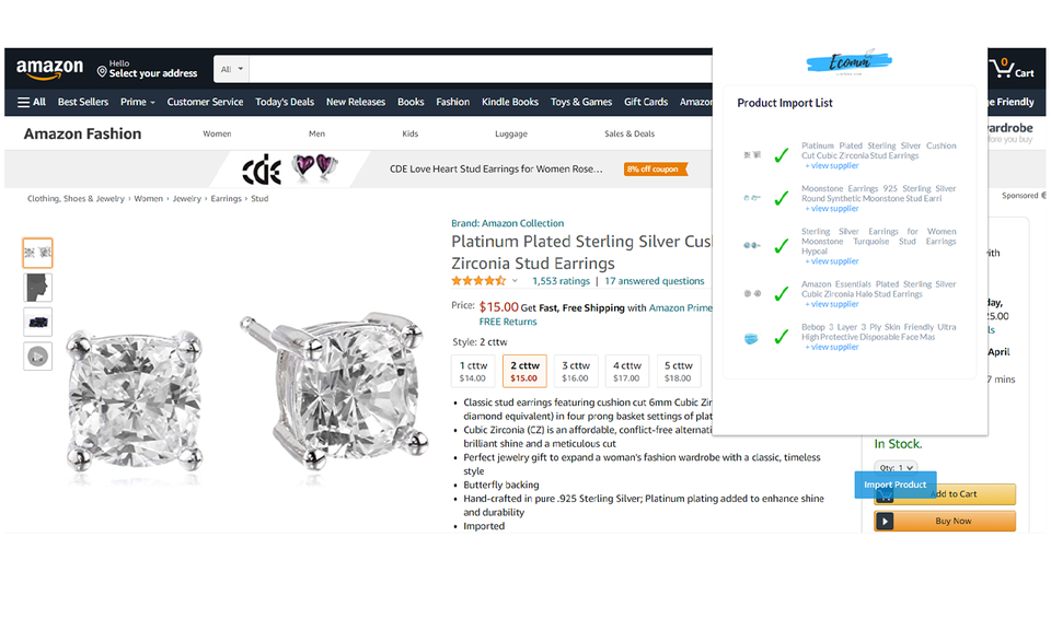EcomListers Dropshipping Product Importer