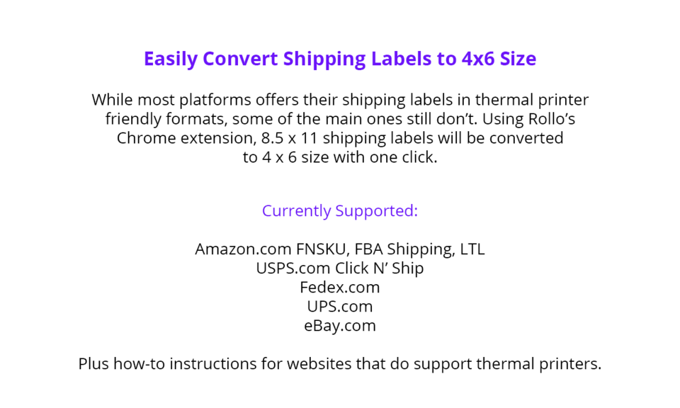 Rollo Label Converter for Thermal Printers