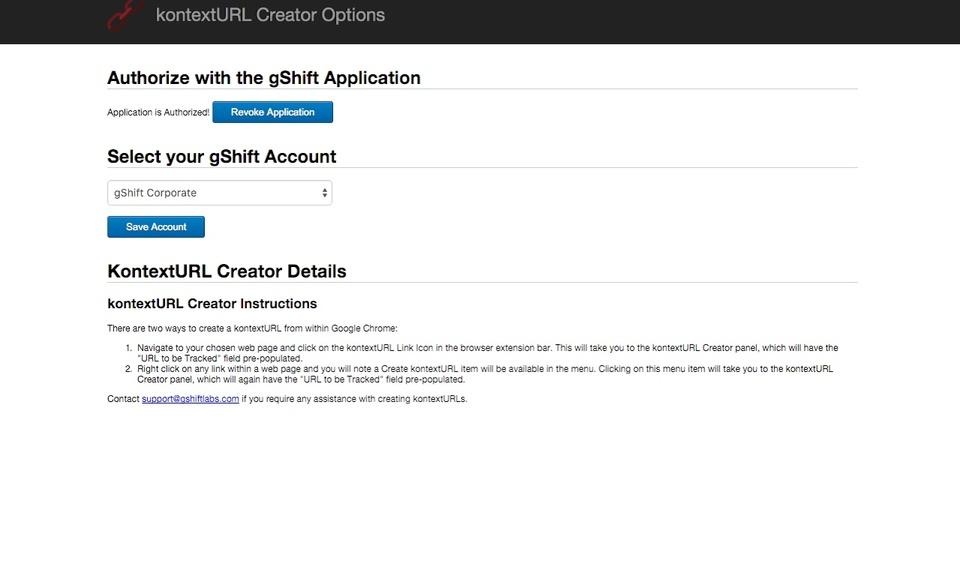 gShift kontextURL Creator