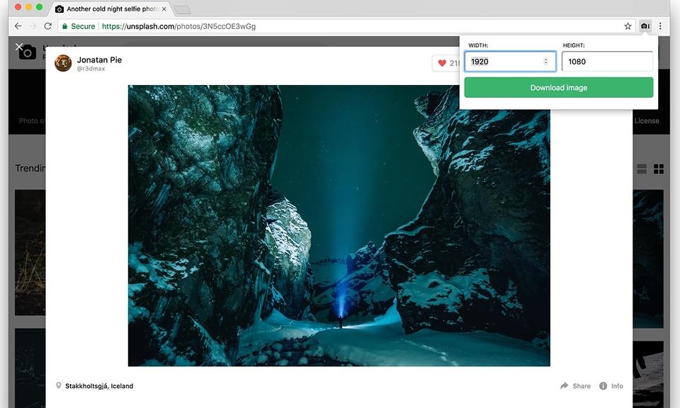 Unsplash image downloader