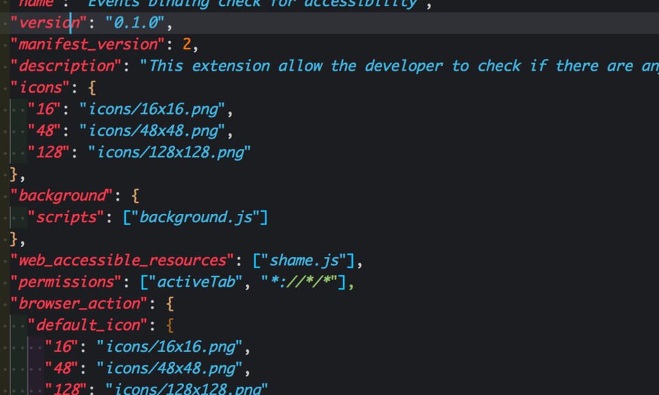 Events binding check for accessibility