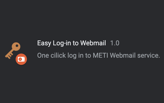 Easy Log-in to Webmail