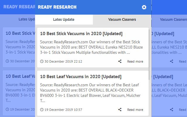 Vacuum Cleaners - Latest Update News