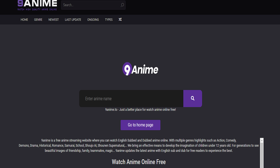 Watch Anime Streaming - 9anime.city