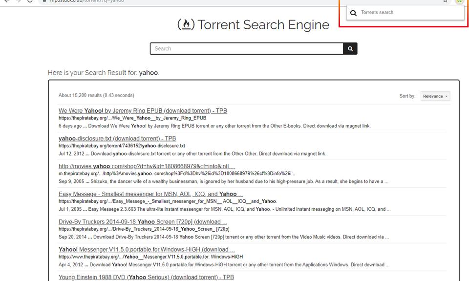 FireTorrent Torrent Search