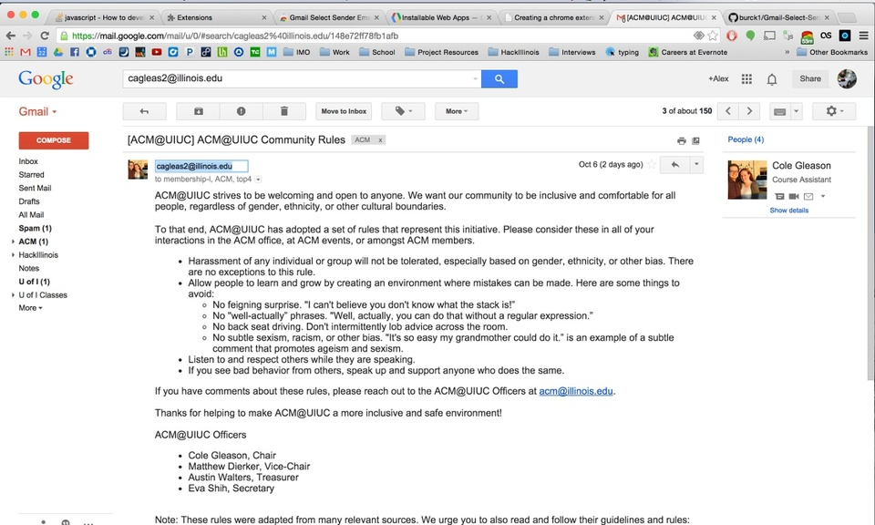 Gmail Select Sender Email
