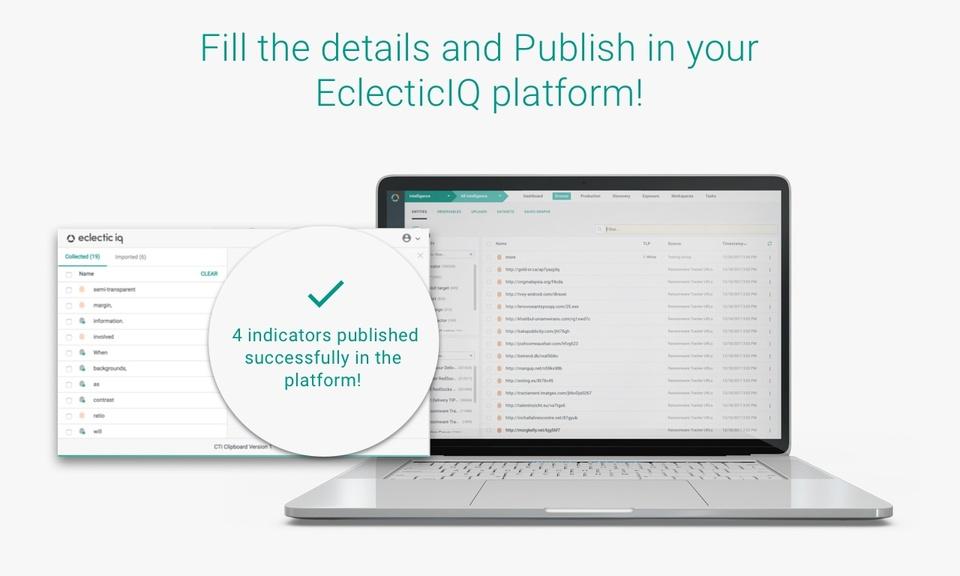 EclecticIQ: CTI Clipboard