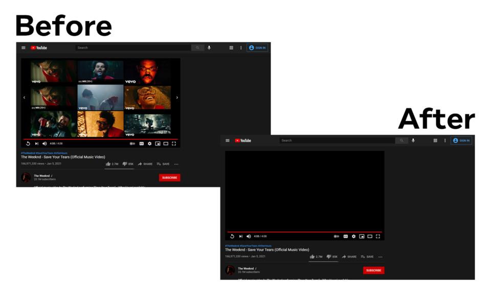 Block YouTube Feed - Homepage, Sidebar Videos