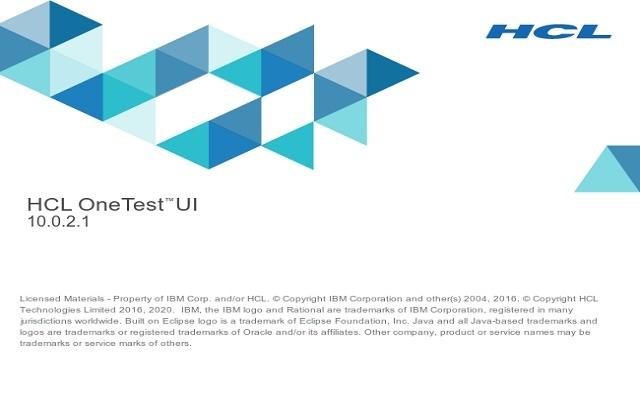HCL OneTest™ UI