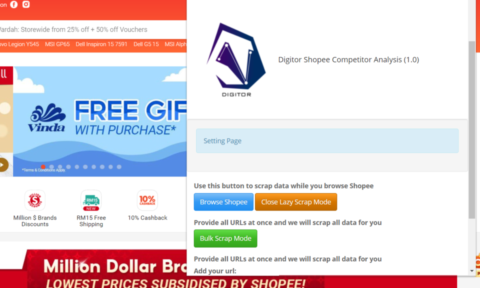 Digitor Shopee Competitor Analysis