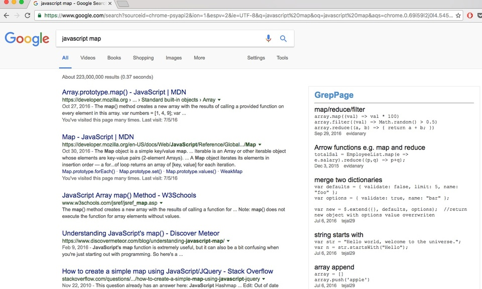 GrepPage Search