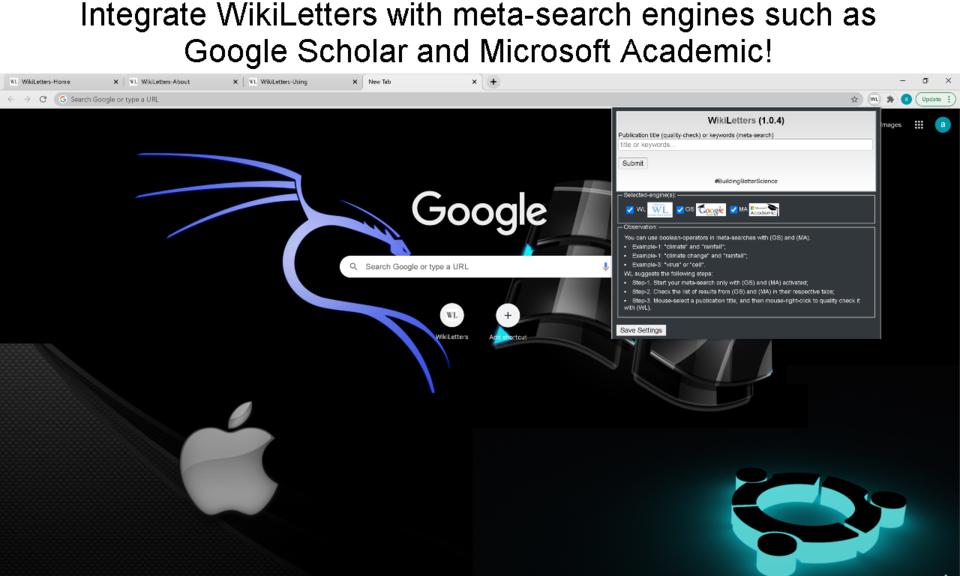 science search WikiLetters 1.0.5