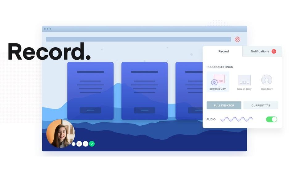 Loom - Video Recorder: Screen, Webcam and Mic免费录制屏幕,网页截图