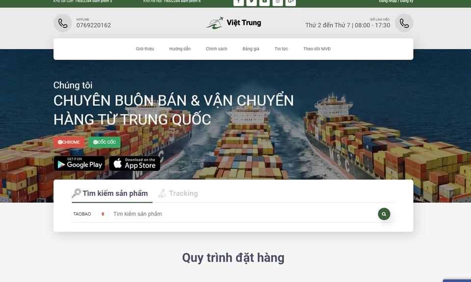 Công Cụ Đặt Hàng Việt Trung Service