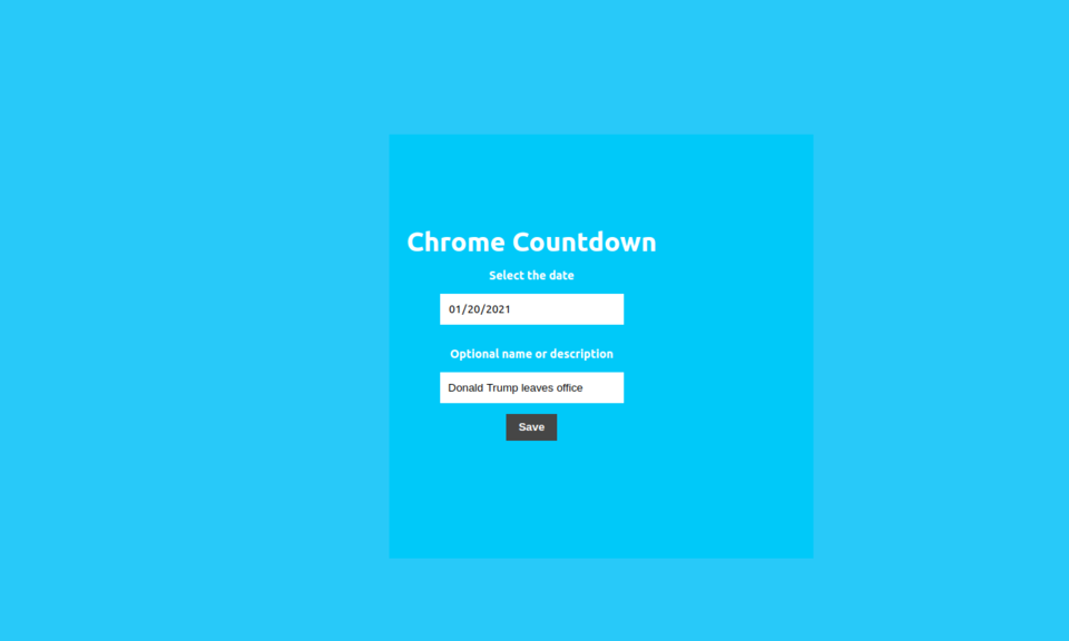 Chrome Countdown