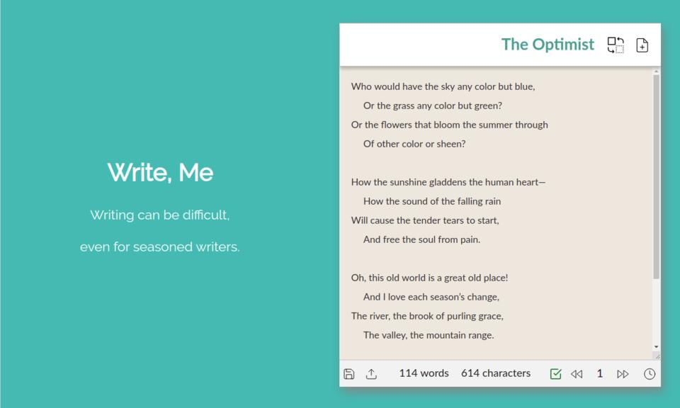 Write, Me